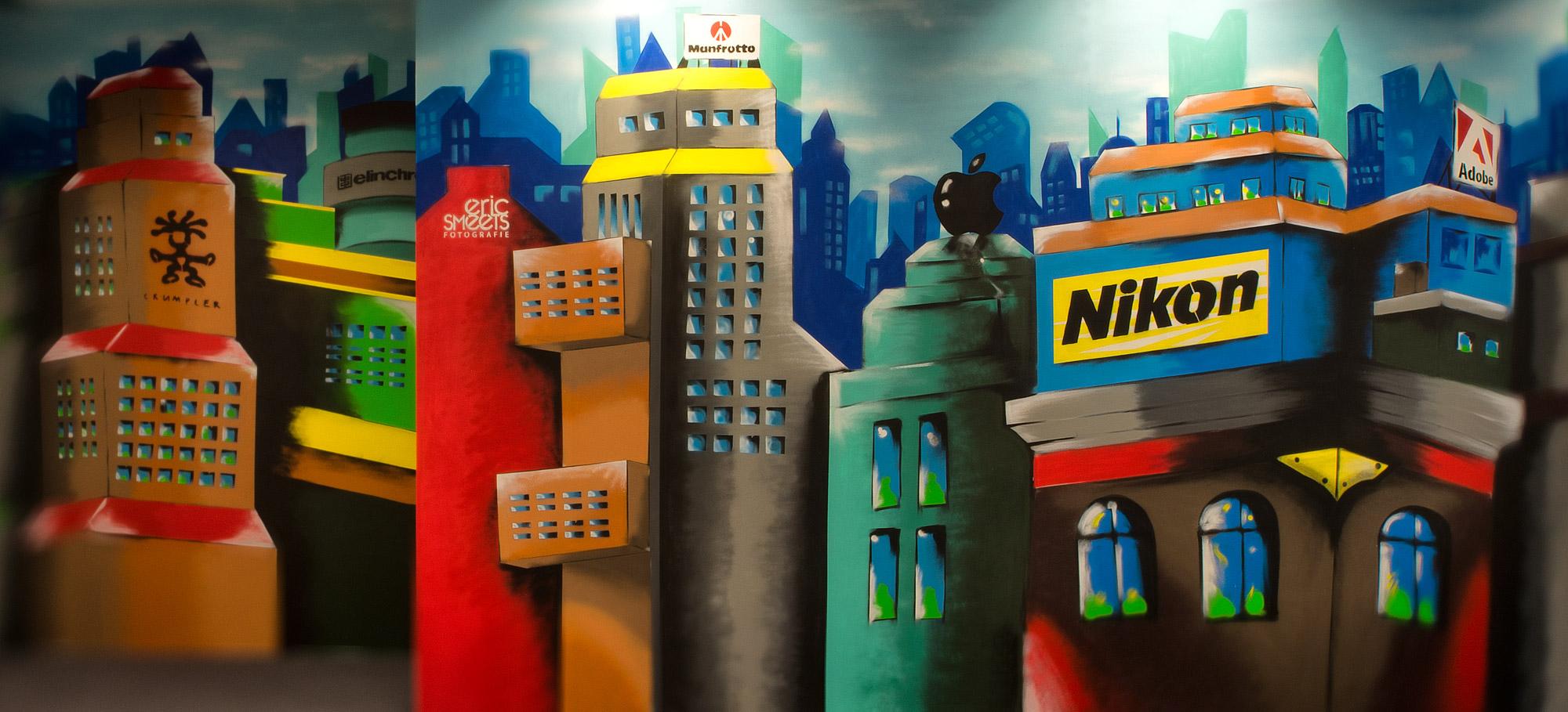 De grote graffitimuur